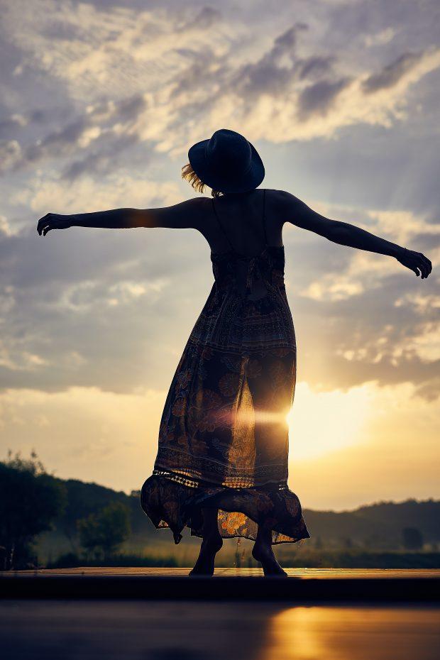 Jumping girl - creative mindfulness